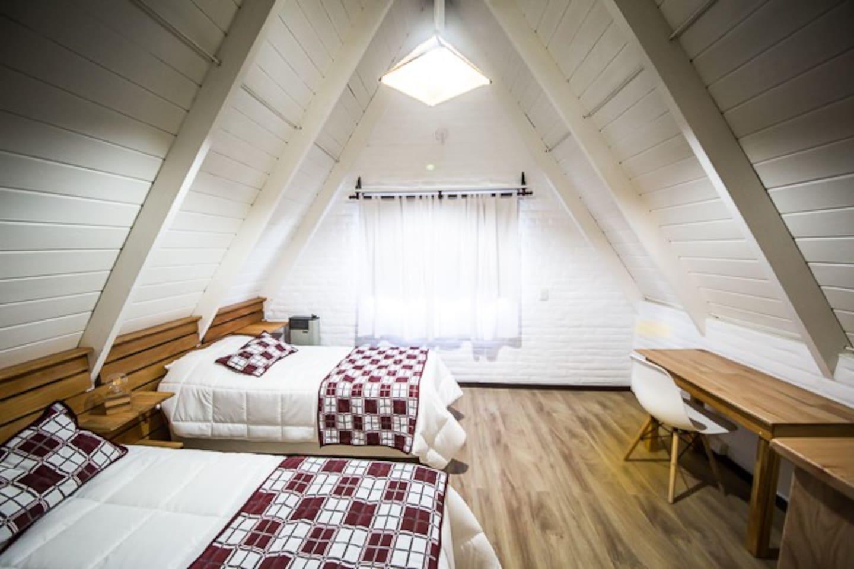 Habitacion 2. Dos camas simples.
