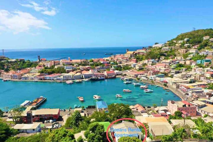 Oceans Rental -Panoramic City,Ocean,Carenage View!