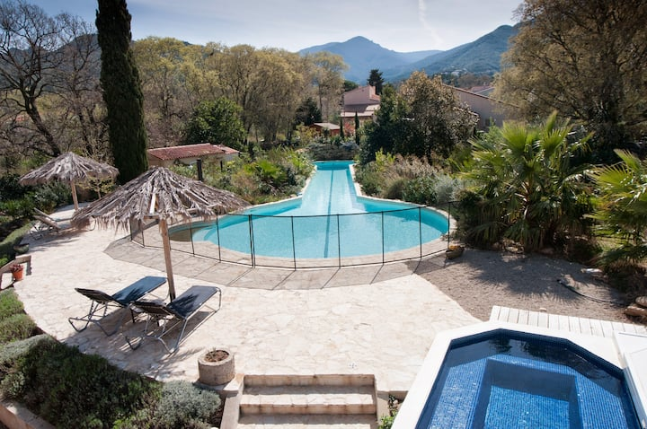 Villa Mimosa Sorede; For large groups with pool