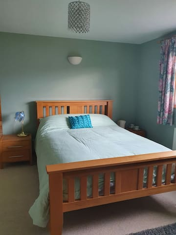 The double room in the family suite, with TV and Tea and Coffee making facilities.