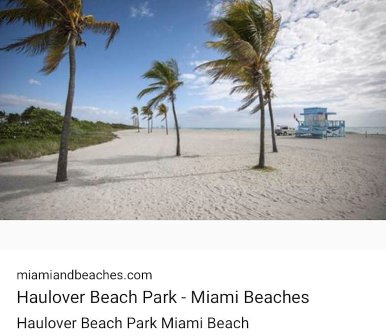 Haulover beach , 5 minutes from my apartment!