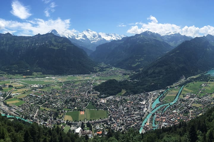 A room with a view in the suburbs of Interlaken!
