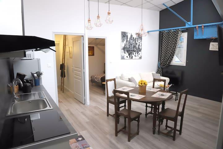 «L'appartement du garage» au cœur de Chaumont