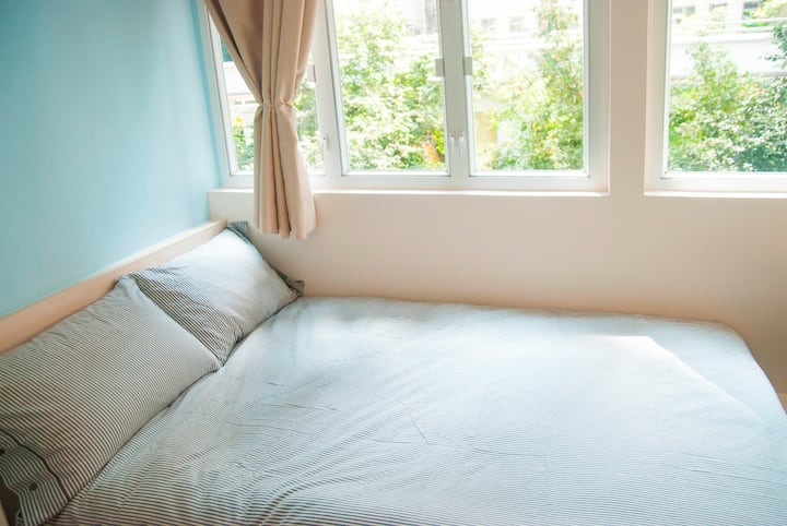 Sunny Private Double Bed Room @TST