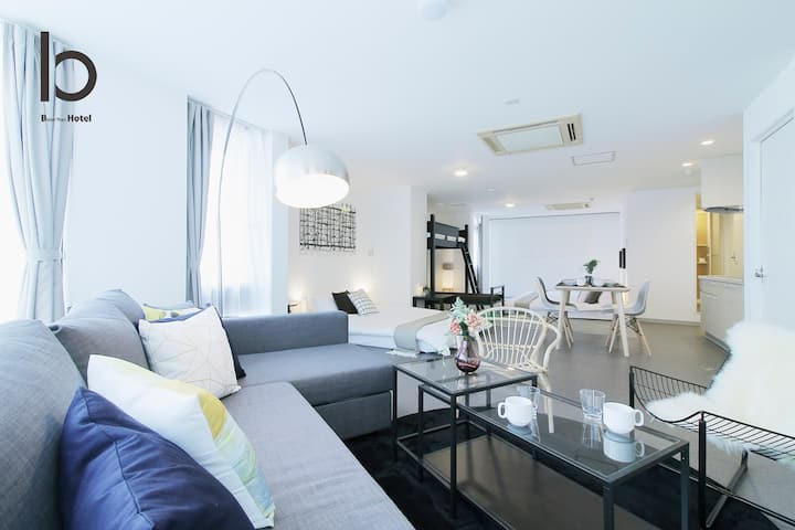 Huge Apartment 5mins PeacePark 30 sec to Hondori Shopping Arcade