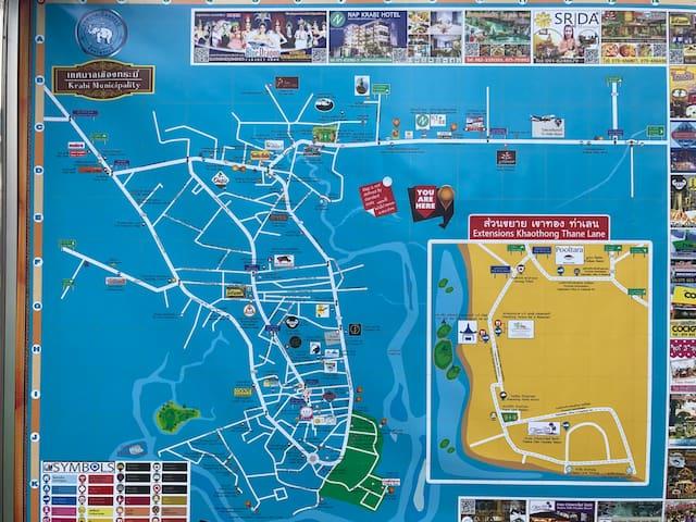 Krabi city map