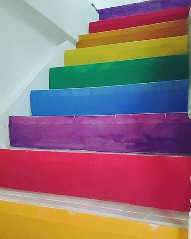 Colorful stairs for your colorful life