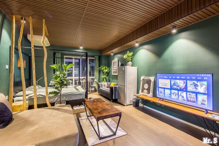 【逆•光】海景公寓 大悦城-阳光100-第一海水浴场-S先生的私人海景酒店公寓-情侣-商务-
