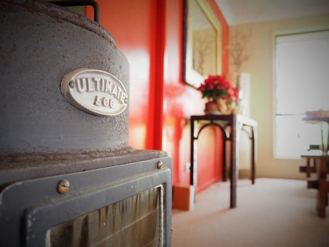 The ULTIMATE 500 - wood burner which keeps our guests completely warm and cosy during the very cold winter months.