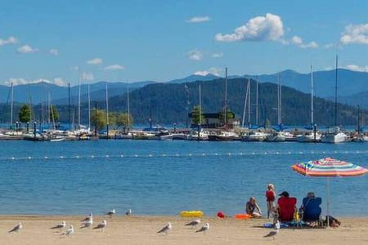 The marina at Lake Pend Orielle.