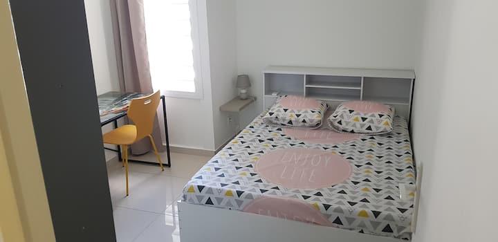 Chambre climatisée dans appt moderne tout confort