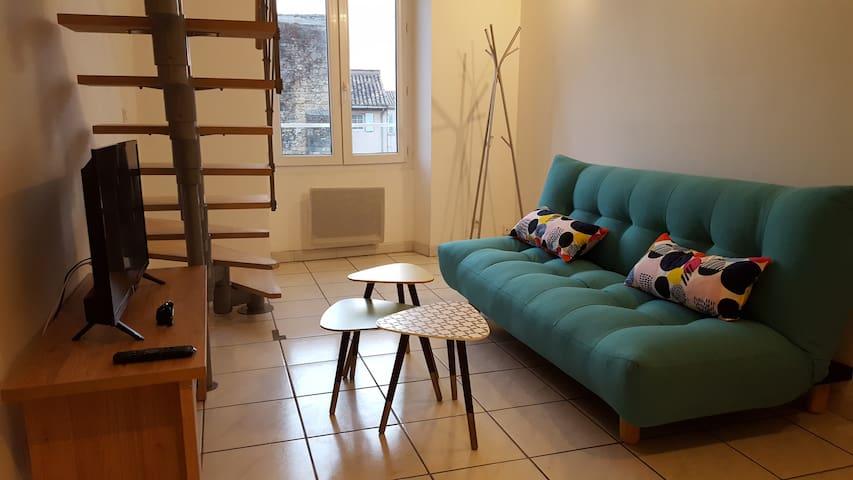 Appartement calme T2 44 m2 au cœur du centre ville
