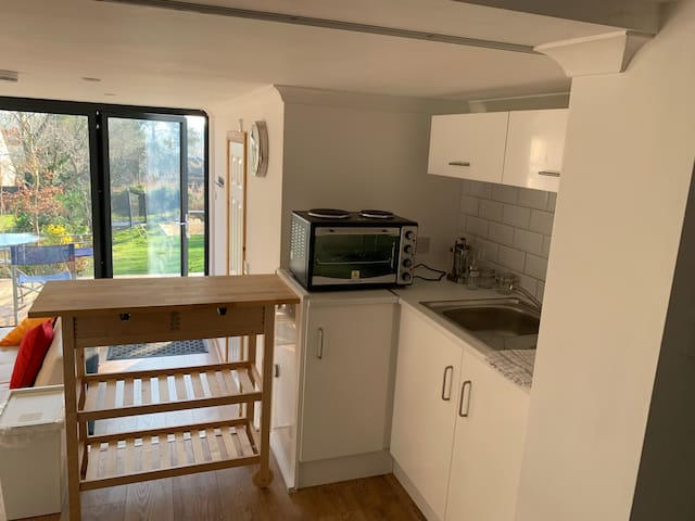 1 bedroom self contained living space with deck