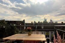 Skylineblick von der Dachterasse/  Skyline-view from the roof terrace