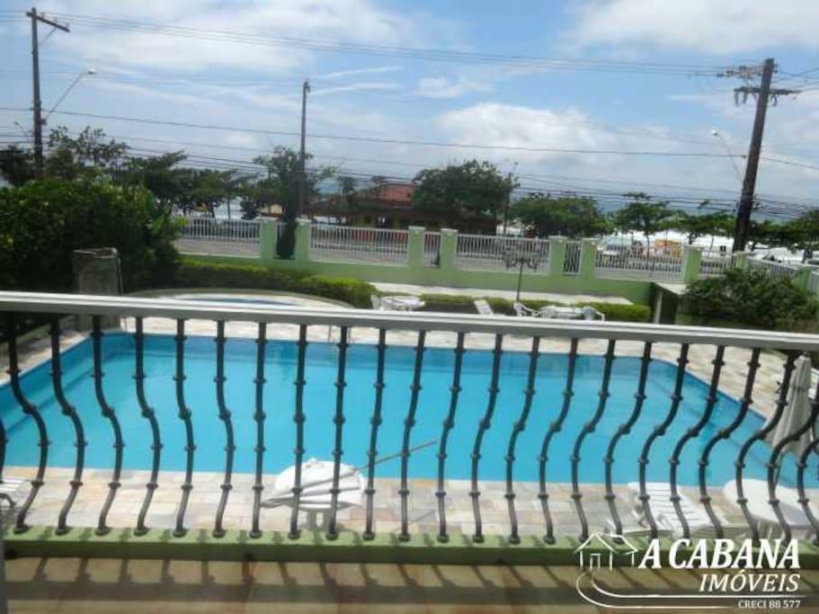 Visão do apto para a piscina