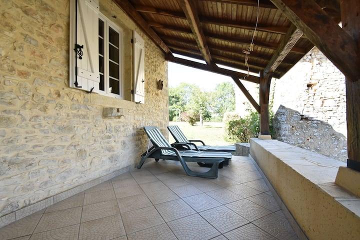 Casa Vintage en Campagnac-lès-Quercy en una Colina