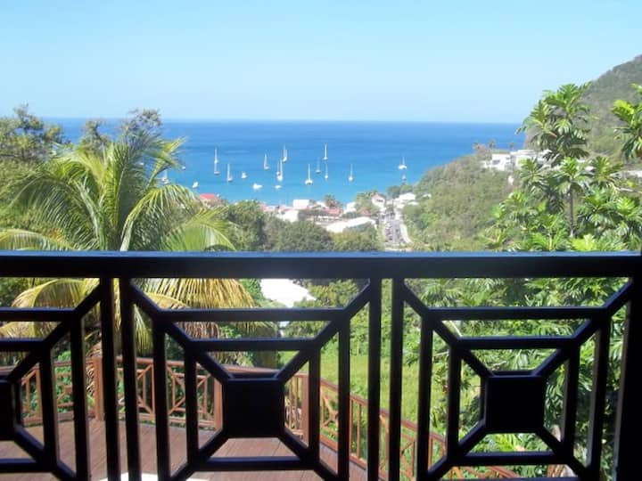 Villa with 3 bedrooms in Deshaies, with wonderful sea view, private pool, furnished terrace