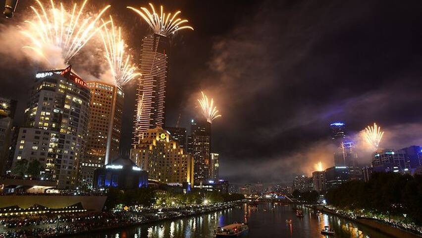 See fireworks and stunning city views from luxury