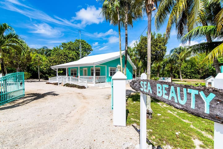 Sea Beauty: ADA-Friendly Island Cottage w/ 300-feet of Private Beach, Hammocks, Cabanas, & Kayak
