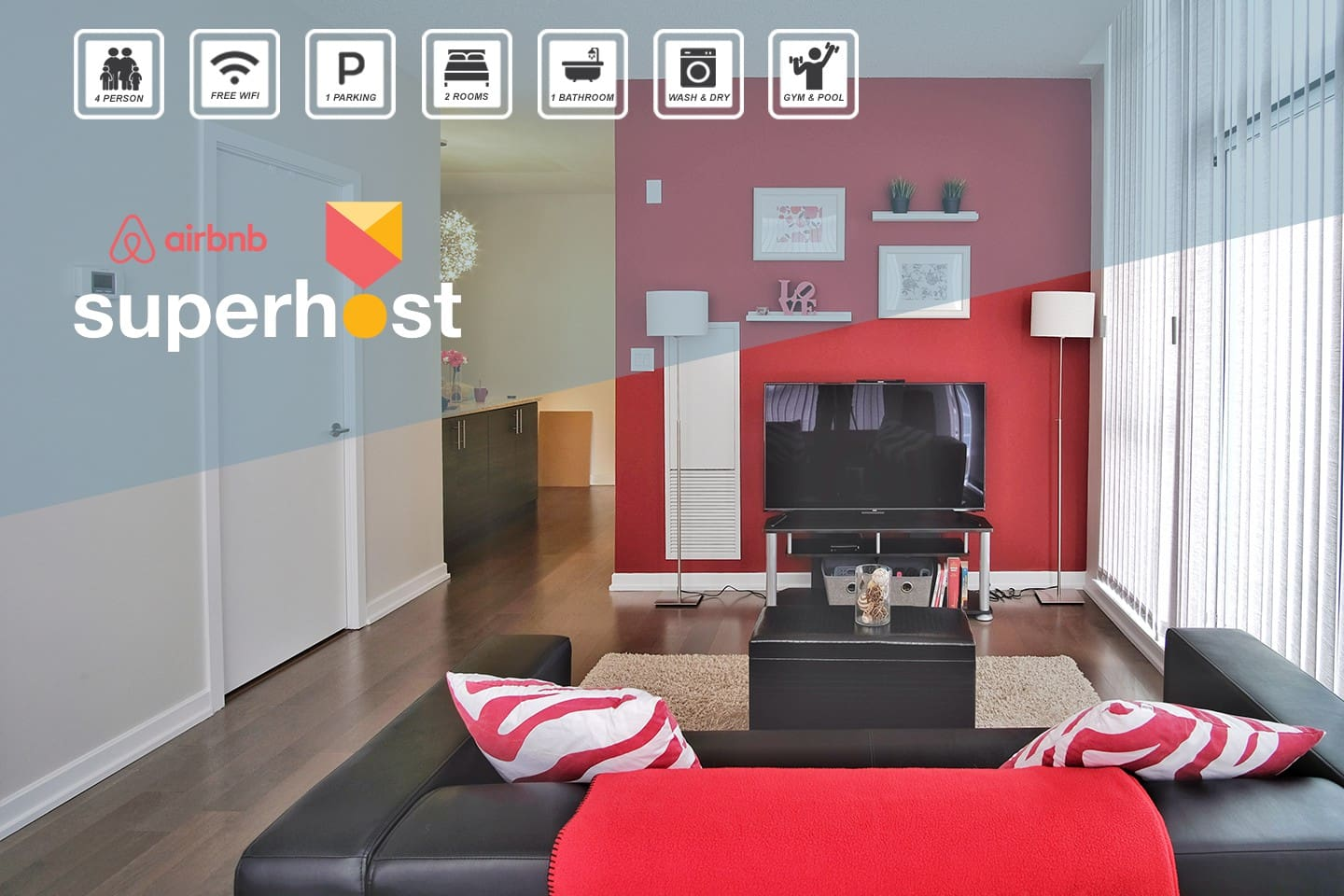 Book with confidence that you'll be treated well by Airbnb Superhosts