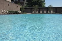 Community features a saltwater swimming pool and sundeck. Swimming pool is open from Memorial Day to Labor Day.