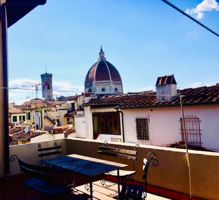 Private twin bed room in the center of Florence,4