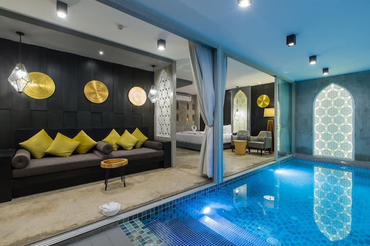 H Honeymoon Studio with small PRIVATE POOL  :) - Tambon Patong