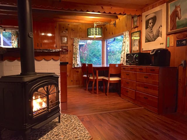 Rustic, riverfront, mid-century time capsule!