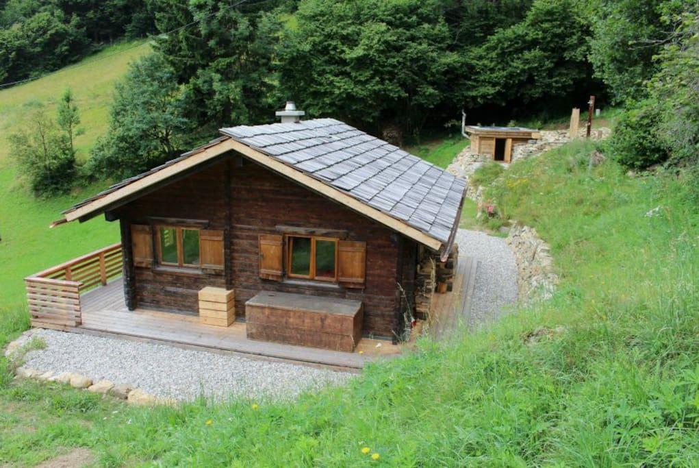 idyllische almh tte mit sauna npht chalets for rent in. Black Bedroom Furniture Sets. Home Design Ideas