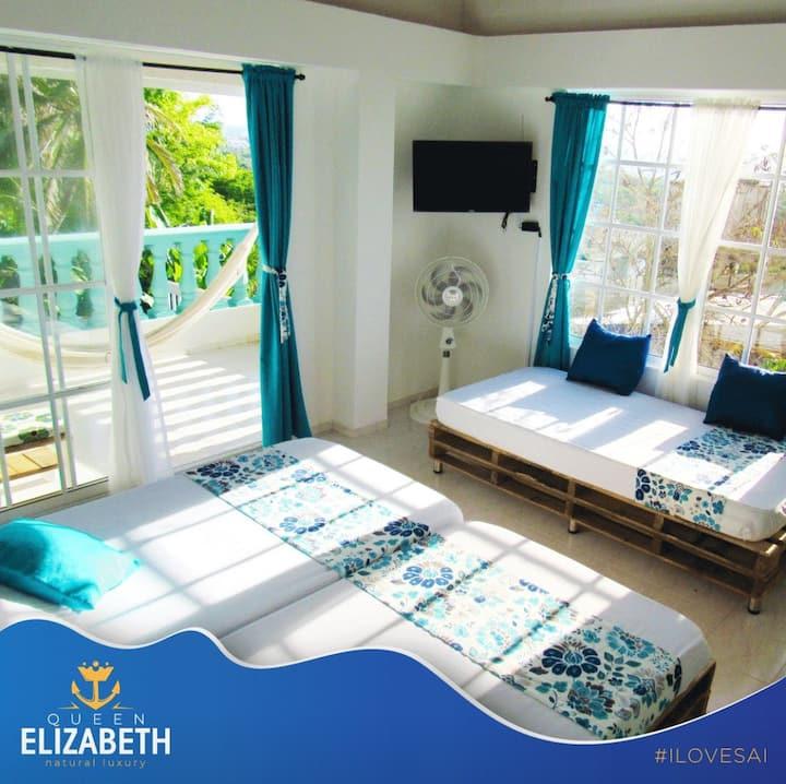 Habitación grande 3 personas - Queen Elizabeth B&B