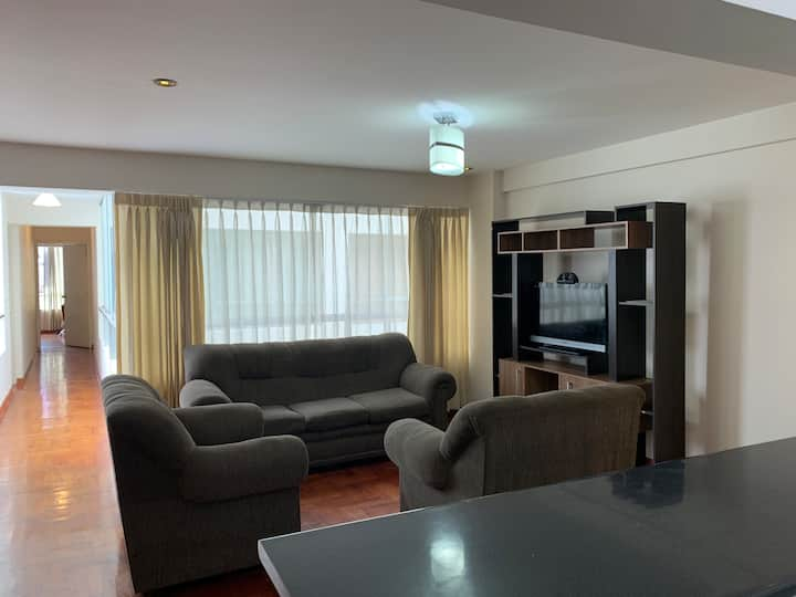 RENT FURNISHED AND WELL LIT APARTMENT IN CUSCO