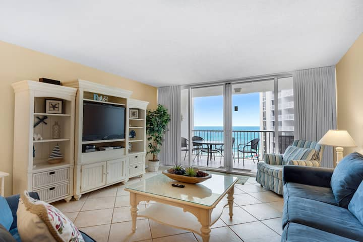 Gorgeous Views☀Heated Pool☀Tennis☀Steps 2 Beach☀2BR Shoreline Towers 1085