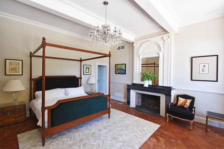 This ground floor bedroom, with Super-King sized bed, is ideal for elderly or limited mobility guests. Please inquire for more details.