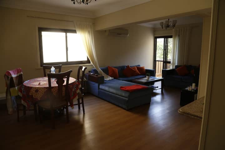 Sunny home with a balcony