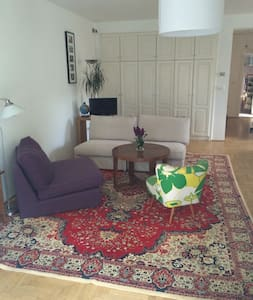 Spacious flat + garden in Buda, close to transport - Budapeşte - Daire