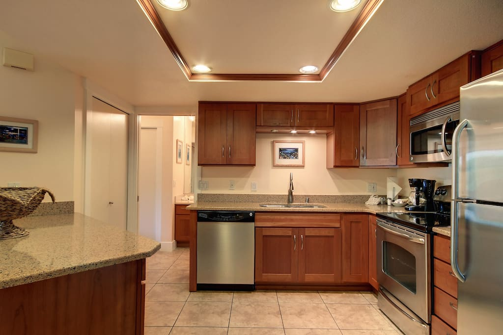 New stainless steel appliances.
