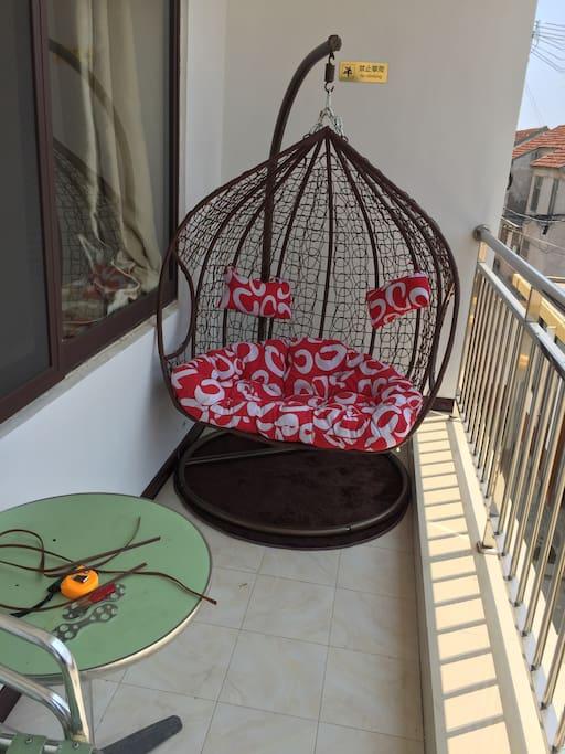 观海阳台,配双人吊篮