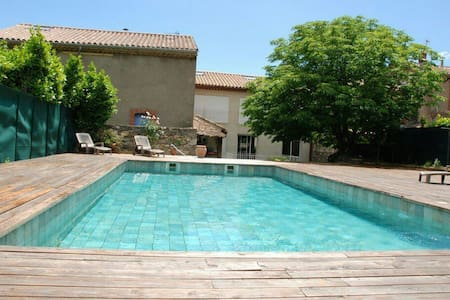 Stunning winegrower renovated home with pool - Roquebrun - Huis