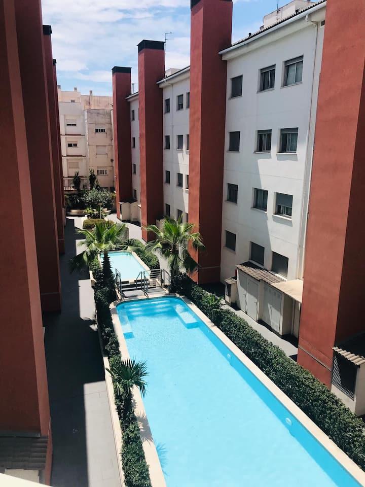 Apartamento con piscina en la playa de Gandía