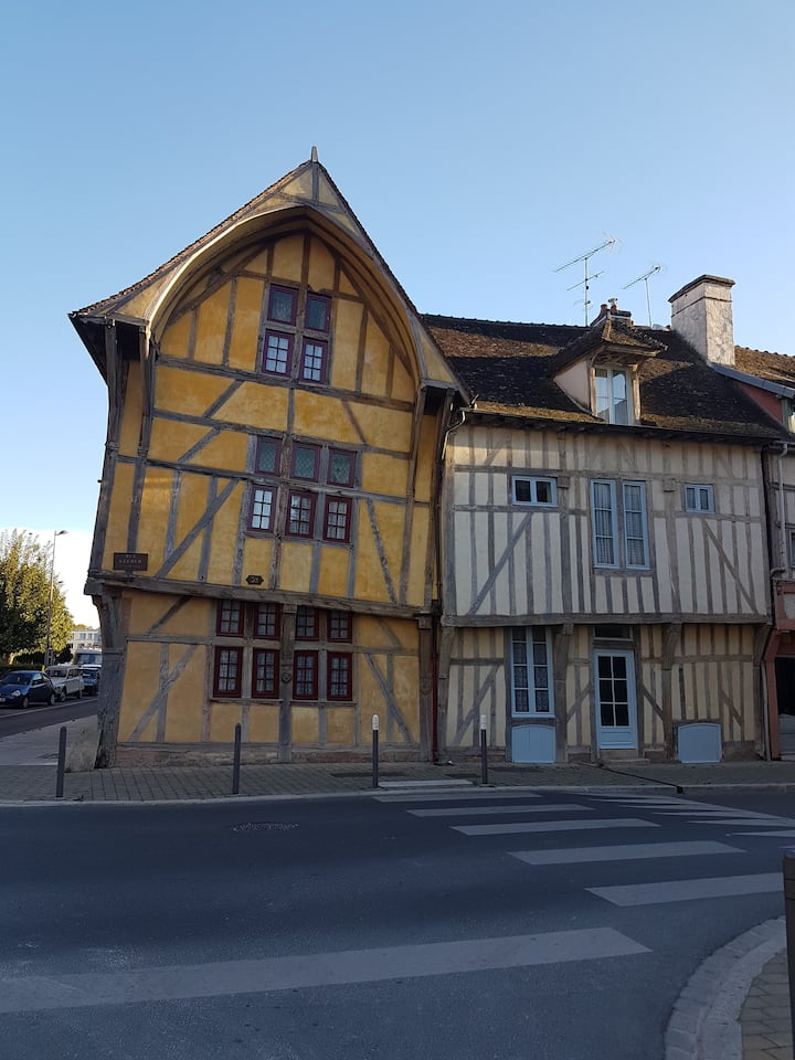Historical fully furnished appartment in Troyes