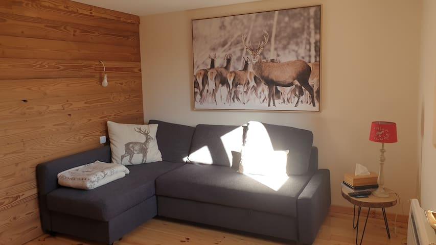 Appartement cocooning Les melezes dans la forêt