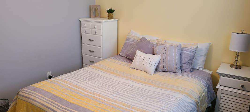 Bedroom 2 - Queen size.  Room is 98 square feet.