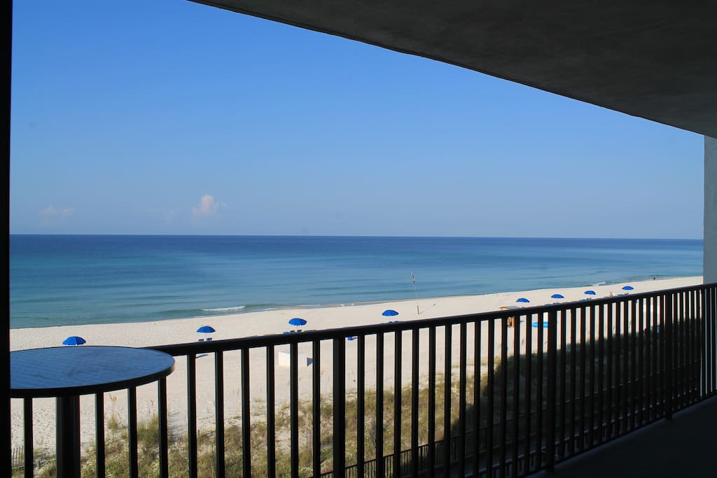 Your view from your balcony over the most beautiful beaches in the world!