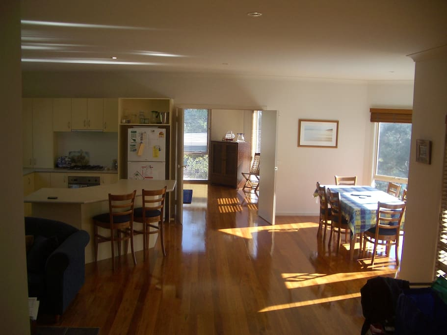Kitchen, and sun drenched dining area.