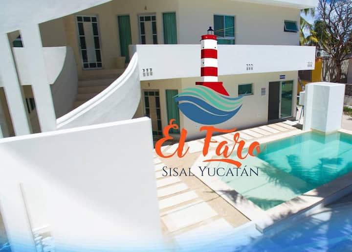 Hotel el Faro, Sisal Yucatán