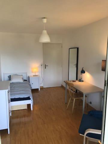 Chambre spacieuse et lumineuse à Lancy - Genève