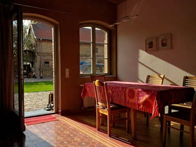 Kleine Ferienwohnung auf dem Bauernhof - Michendorf - Apartamento