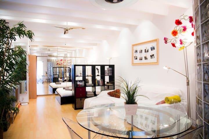 Super studio in heart of gracia apartments for rent in for Superstudio barcelona