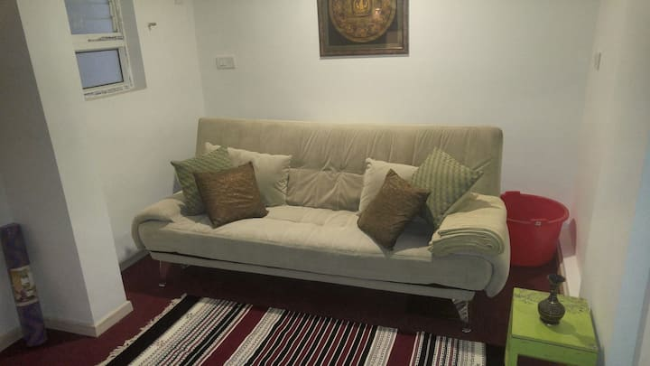 Sofa bed in a Luxury Apt in North Bangalore