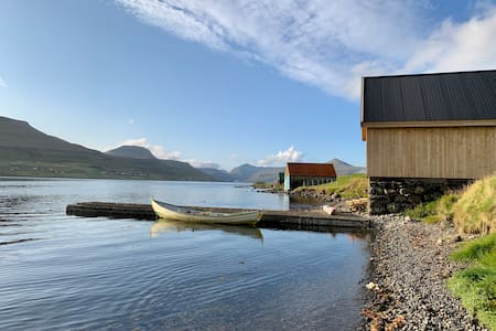 Cozy boathouse by the sea